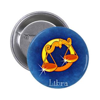 Libra, Bilancia Pinback Button