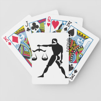LIBRA BLACK AND WHITE HOROSCOPES PRODUCTS BICYCLE PLAYING CARDS