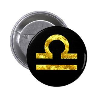 Libra Black Gold Buttons