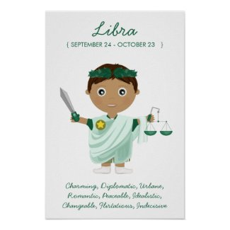 Libra - Boy Horoscope Poster