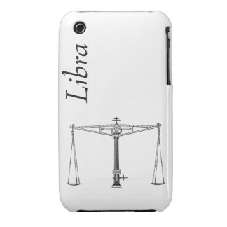 Libra Case Mate with Text iPhone 3 Covers