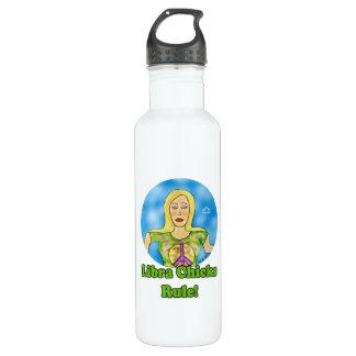 Libra Chicks Rule! 24oz Water Bottle