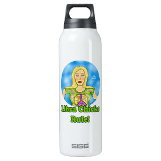 Libra Chicks Rule! 16 Oz Insulated SIGG Thermos Water Bottle