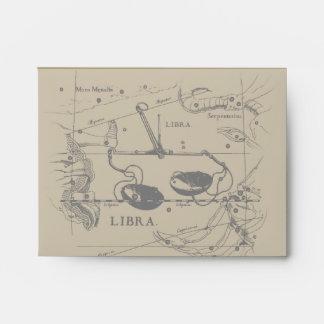 Libra Constellation Hevelius 1690 Decor Envelope