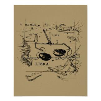 "Libra Constellation Hevelius 1690 Sept23 - Oct22 4.5"" X 5.6"" Flyer"
