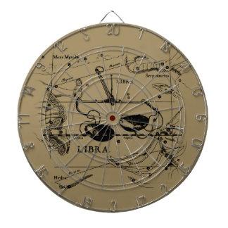 Libra Constellation Map Hevelius 1690 Decor Dartboard With Darts