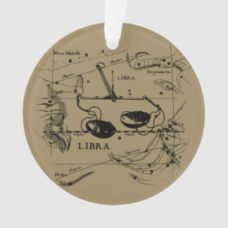 Libra Constellation Map Hevelius circa 1690 Ornament