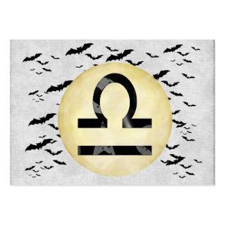 Libra de la luna del palo plantilla de tarjeta personal