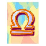 Libra de la muestra del zodiaco postal