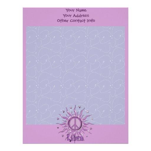 Libra de Sun de la paz Membrete Personalizado