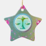 Libra del ornamento de la muestra de la estrella ornamento de reyes magos