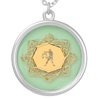 ¡Libra del zodiaco - modifiqúelo para requisitos Collar Plateado