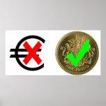 Libra esterlina contra euro posters