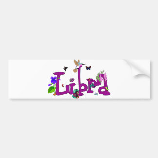 Libra Flowers Bumper Sticker