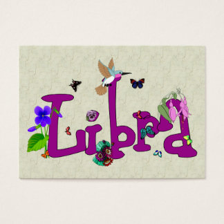 Libra Flowers Business Card