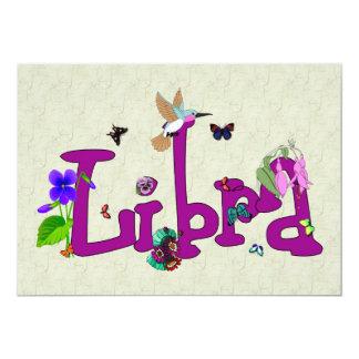 Libra Flowers Card