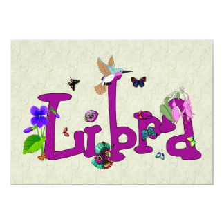 "Libra Flowers 5"" X 7"" Invitation Card"