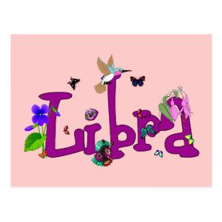 Libra Flowers Postcard