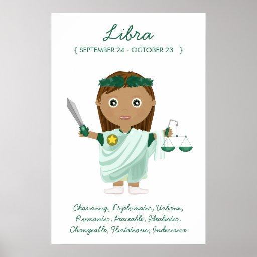 Libra - Girl Horoscope Poster