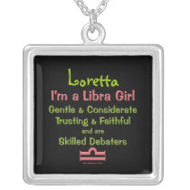 Libra Girl Personalized Zodiac Necklace