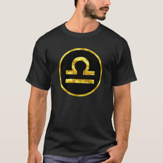 Libra Gold Black Circle Symbol Shirt