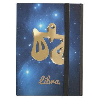 Libra golden sign iPad air cases