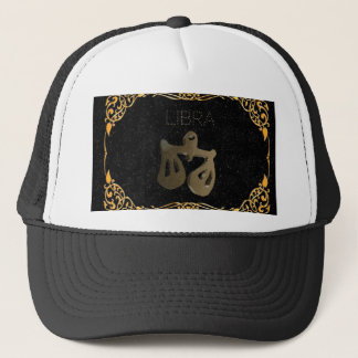 Libra golden sign trucker hat