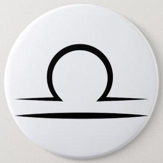 libra greek zodiac astrology horoscope symbol button