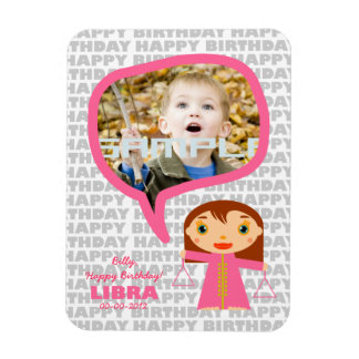 Libra Happy Birthday Keepsake for kids Magnet