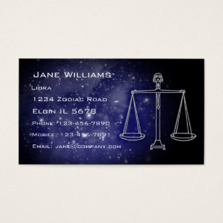 Libra Horoscope Business Card