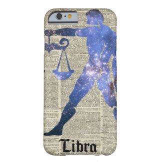 Libra Horoscope Sign Over Old Dictionary Page Barely There iPhone 6 Case