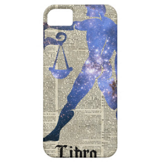 Libra Horoscope Sign Over Old Dictionary Page iPhone SE/5/5s Case