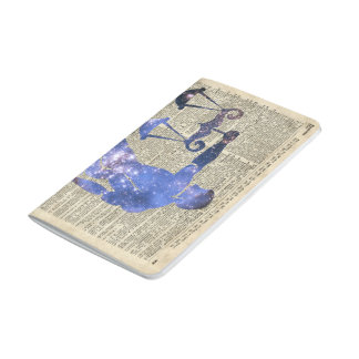 Libra Horoscope Sign Over Old Dictionary Page Journal