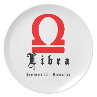 Libra, Horoscope, zodiac, astrology Melamine Plate