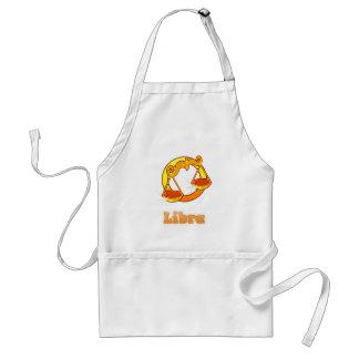 Libra illustration adult apron