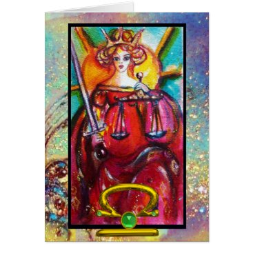 Lawyer Themed LIBRA,JUSTICE TAROT ASTROLOGY ZODIAC BIRTHDAY CARD