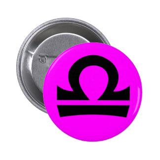 Libra magenta button