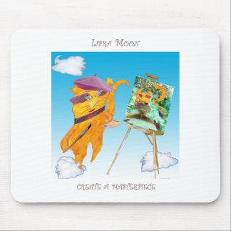 Libra Moon Mouse Pad