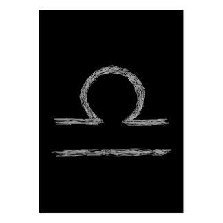 Libra. Muestra astrológica del zodiaco Tarjeta De Negocio