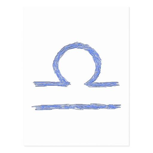Libra. Muestra astrológica del zodiaco Tarjeta Postal
