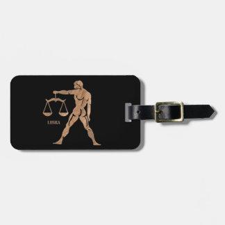 Libra Muscle Man Scales Zodiac Bag Tags