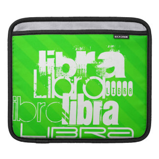 Libra; Neon Green Stripes Sleeves For iPads
