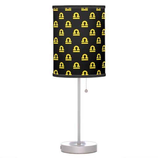 Libra Pattern Yellow Desk Lamp