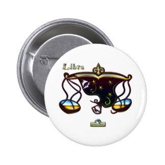 Libra Pinback Button