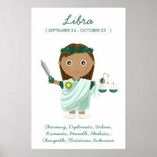 Libra - poster del horóscopo del chica