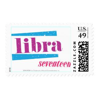 Libra Purple Postage Stamp