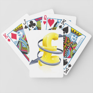 Libra que cae cartas de juego