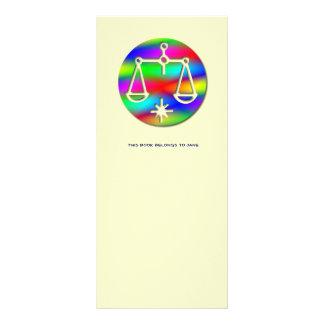 Libra Rainbow Scales Zodiac Star Sign Bookmark Rack Card