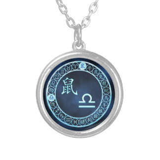 Libra/Rat Silver Plated Necklace