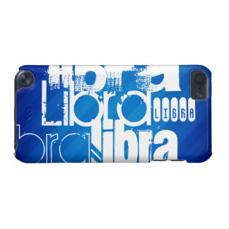 Libra; Royal Blue Stripes iPod Touch 5G Cover